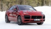 Superfast Porsche Cayenne Coupe GTS undergoes winter testing