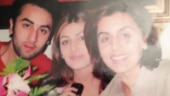Ranbir Kapoor poses with mom Neetu and sister Riddhima in throwback photo. See post