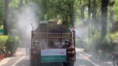After disinfectant tunnel and drones, Noida authority begins sanitisation with 'Corona Vajra' tankers