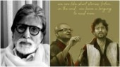 Amitabh Bachchan shares heartbreaking tribute by artist to Irrfan and Rituparno Ghosh. See post