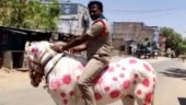 Andhra Pradesh cop rides horse painted with images of coronavirus to spread awareness. Twitter reacts