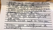 5-year-old girl sends heartwarming letter to 93-year-old neighbour in isolation. Internet is emotional