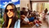 Coronavirus lockdown: Neha Dhupia shares adorable family photo with Angad Bedi and Mehr