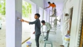 Quarantined migrant workers paint walls of Rajasthan schools to thank locals for food and shelter