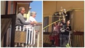 Coronavirus lockdown: Neighbours in Italy have a wine party from balconies. Viral video