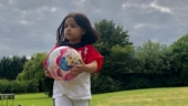 Sakshi Dhoni shares adorable video of Ziva helping clean lawn during Covid-19 lockdown