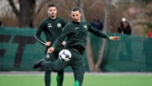 Zlatan Ibrahimovic trains with Swedish club Hammarby after brief bout of coughing