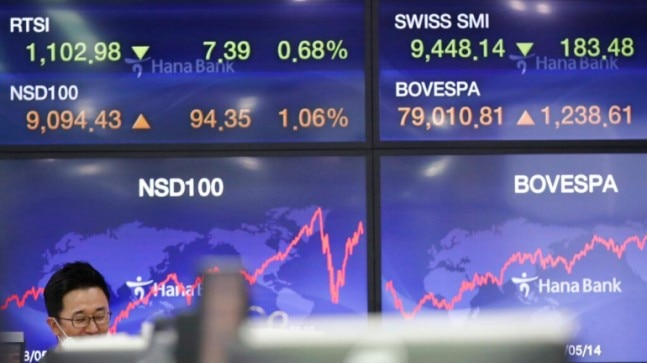 Global shares gain as China reports improved economic data