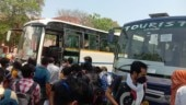 Jamia Millia Islamia students from Bihar left for their homes in 5 buses arranged by the university yesterday