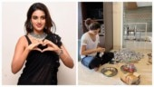 Nidhhi Agerwal arranges meals for stranded migrant workers. See pic