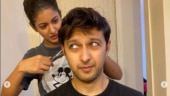 Vatsal Sheth gets haircut from wife Ishita Dutta: Baal bhi kate aur pata bhi nai chala