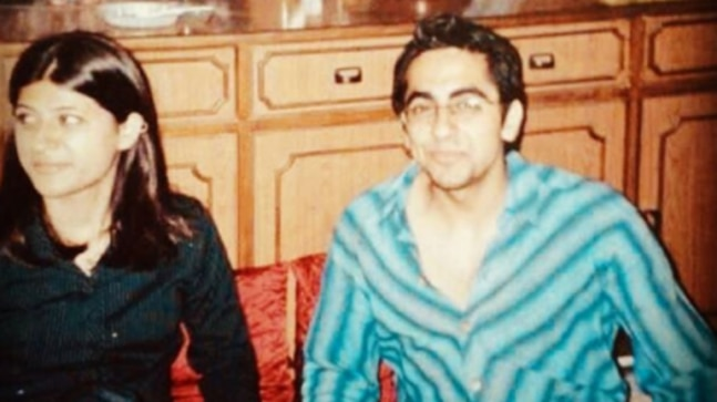 Ayushmann Khurrana and Tahira Kashyap believed in social distancing since their first year of dating. See old pic thumbnail