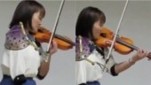 Paralympian swimmer and nurse Manami Ito is winning the Internet with her violin skills