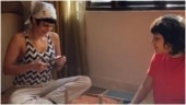 Mandira Bedi helps son Vir with his 3D world school project in new videos. It turned out pretty cool