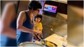 Mandira Bedi made Monday better for son Vir by making pizza and Risotto at home. Watch video