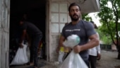 Salman Khan donates ration to needy from Panvel farmhouse. Iulia Vantur and Jacqueline Fernandez join in