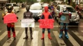 Spider-Man, Black Panther and Gatotkaca fight coronavirus on Indonesia streets. See pics