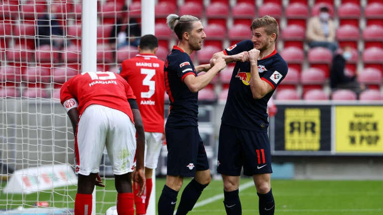 Breaking: Bundesliga: Timo Werner hat-trick helps Leipzig demolish Mainz 5-0