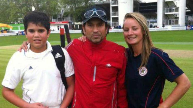 Danielle Wyatt reveals her first meeting with Sachin and Arjun Tendulkar - Sports News