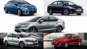 2020 Honda City vs 2020 Hyundai Verna vs Maruti Suzuki Ciaz vs Volkswagen Vento vs Skoda Rapid: Specs compared