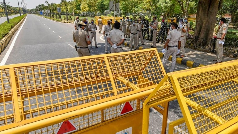 File photo of police deployment outside the Chinese Embassy in Delhi