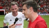 He's gone underground again: Carragher taunts Manchester United legend Gary Neville after Liverpool win PL
