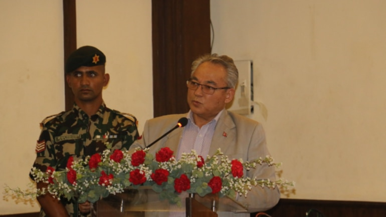 File photo of Nepal Home Minister Ram Bahadur Thapa