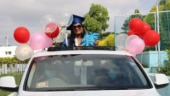 Canadian school conducts 'Drive Thru' graduation ceremony with students sitting in their cars