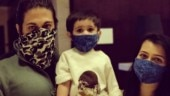 Radhika Pandit shares masked photo of husband Yash and daughter Ayra, requests people to stay safe