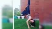 Radhika Madan pulls off handstand in new Instagram post. Don't miss the caption