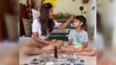Shilpa Shetty makes DIY salt scrub with son Viaan in new post. Tried yet?