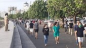Social distancing takes a hike as Mumbaikars return to Marine Drive for walks after months