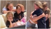 Healthcare worker mom meets daughters after 2 months. Emotional video goes viral