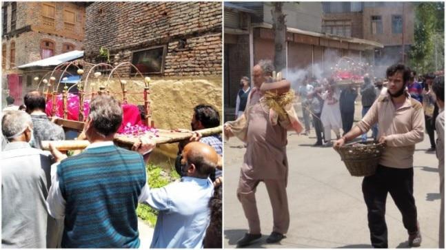 Muslim neighbours help Kashmiri Pandit family perform last rites of 75-year-old woman