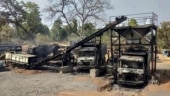 Chhattisgarh: Naxals torch vehicles, machines at road construction site