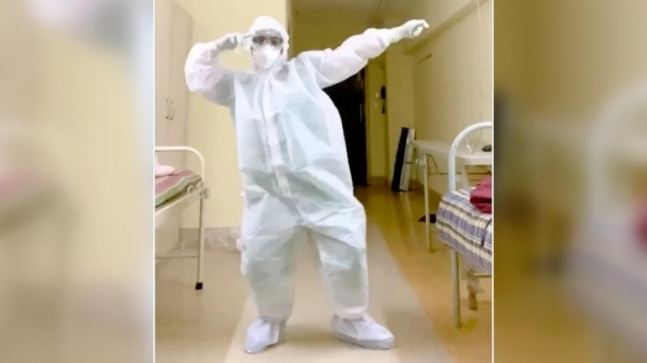 Doctor dances to Nora Fatehi's Garmi in PPE suit to spread positivity. Varun Dhawan loves viral video