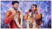 Telugu actor Nithiin ties the knot with Shalini in a grand ceremony. See viral pics