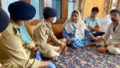 Kashmir IG, other officials visit family of civilian who was killed in Sopore cross-firing