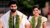 Popular Malayalam anchor Meera Anil ties the knot with fiance Vishnu in Thiruvananthapuram. See pics