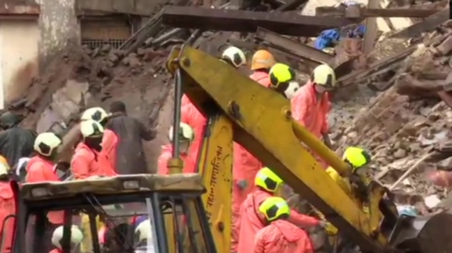 Portion of building collapses in Mumbai's Fort area, rescue operation underway
