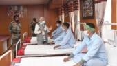PM Narendra Modi visits recovering jawans injured in Galwan Valley clash
