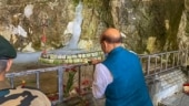 Rajnath Singh offers prayers at Amarnath cave shrine