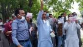 BJP workers protest after denied permission to meet J&K L-G GC Murmu