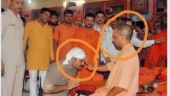 Fact Check: Man kneeling in front of Yogi Adityanath is not Vikas Dubey