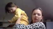 Child crashes mom's live interview in hilarious viral video. Internet loves it