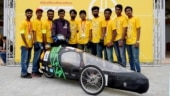 Bamboo car, engineering students, shell eco marathon, eco friendly car, 100% bamboo car, world's first 100% eco friendly vehicle, world's first 100% eco-friendly car, students made bamboo car