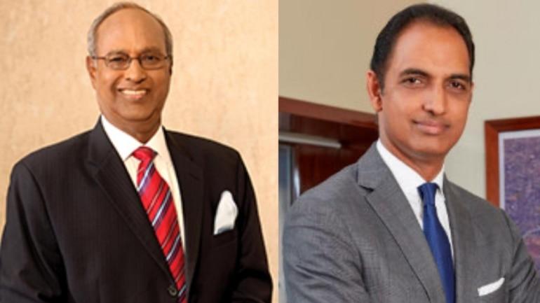 GVK Group chairman GVK Reddy and son GV Sanjay Reddy