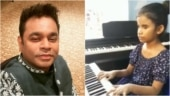 Visually-impaired girl plays Cobra song Thumbi Thullal on synthesizer. AR Rahman is bowled over