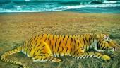 Sudarsan Pattnaik makes stunning sand art to commemorate International Tiger Day. See post