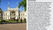 Lund University, one of the top 100 in the world, has had enough of Indians on Facebook